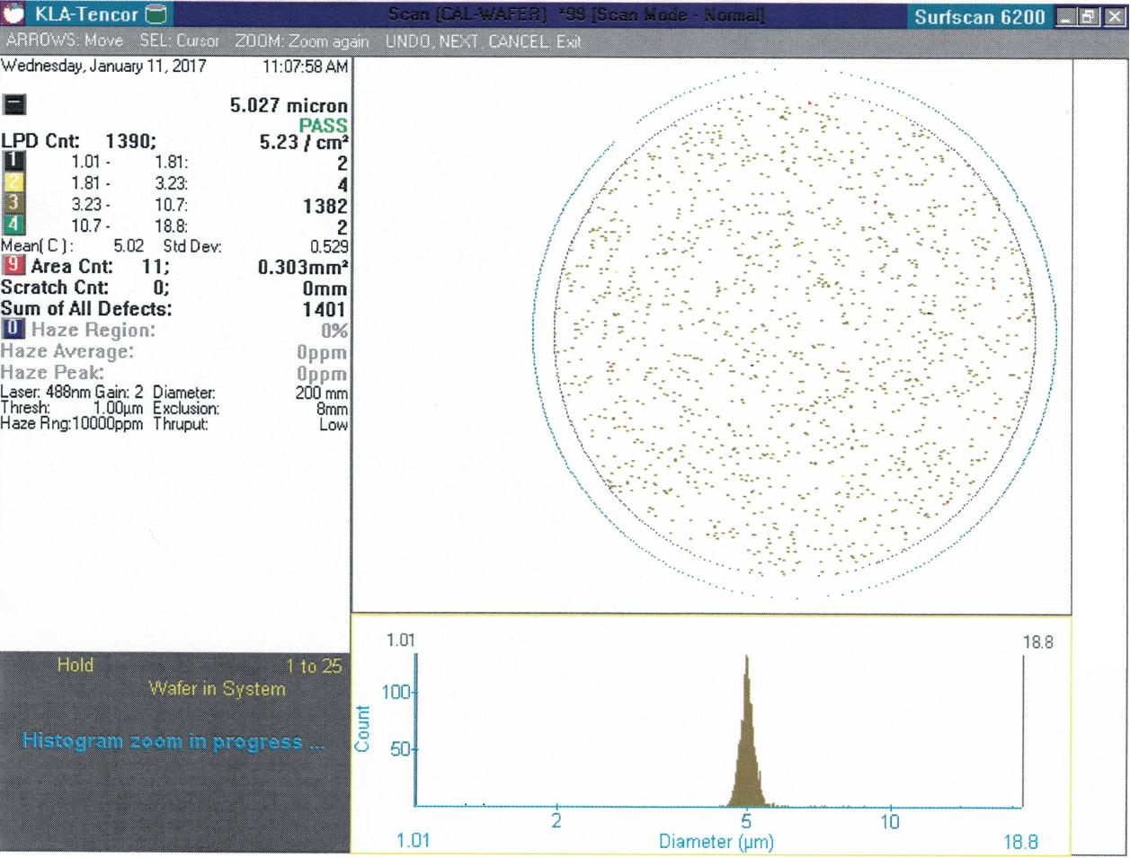 Calibration Wafer Standard, 5um, Full Deposition